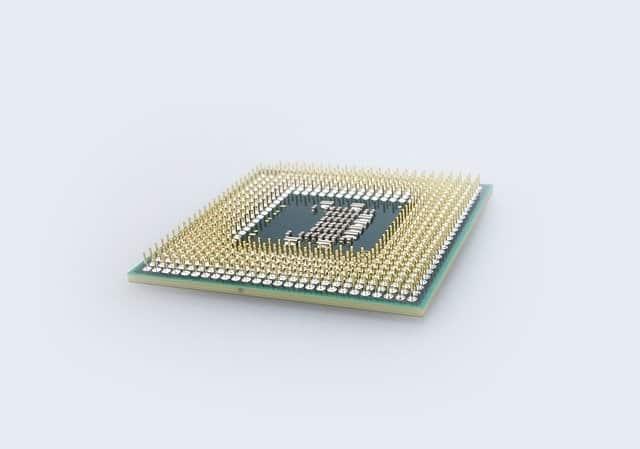 Photo d'un processeur