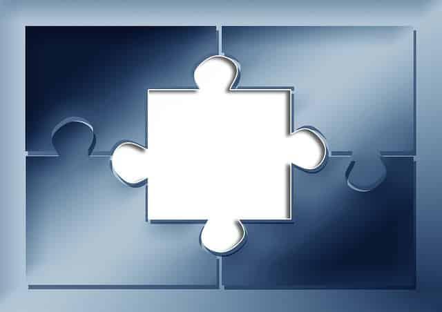 Image de puzzle où il manque une pièce